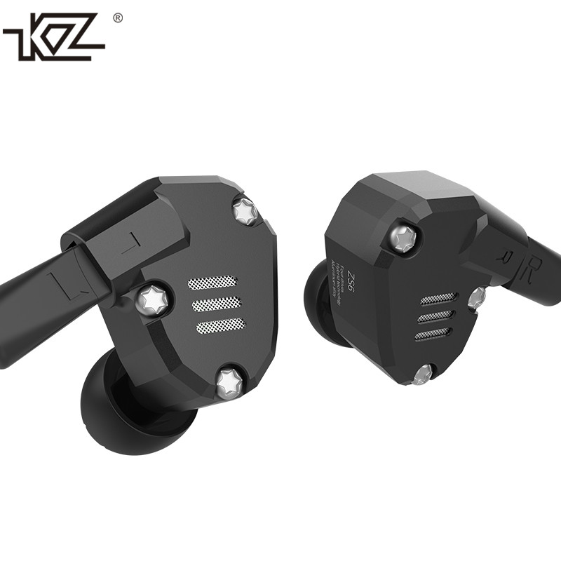 D'origine KZ ZS6 2DD + 2BA Hybride Dans L'oreille Écouteurs HIFI DJ Monito de Course Sport Écouteurs Boules Quies Intra-auriculaires KZ ZS5 pro