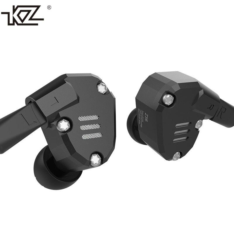 Original KZ ZS6 2DD+2BA Hybrid In Ear Earphone HIFI DJ Monito Running Sport Earphone Earplug Earbud KZ ZS5 Pro