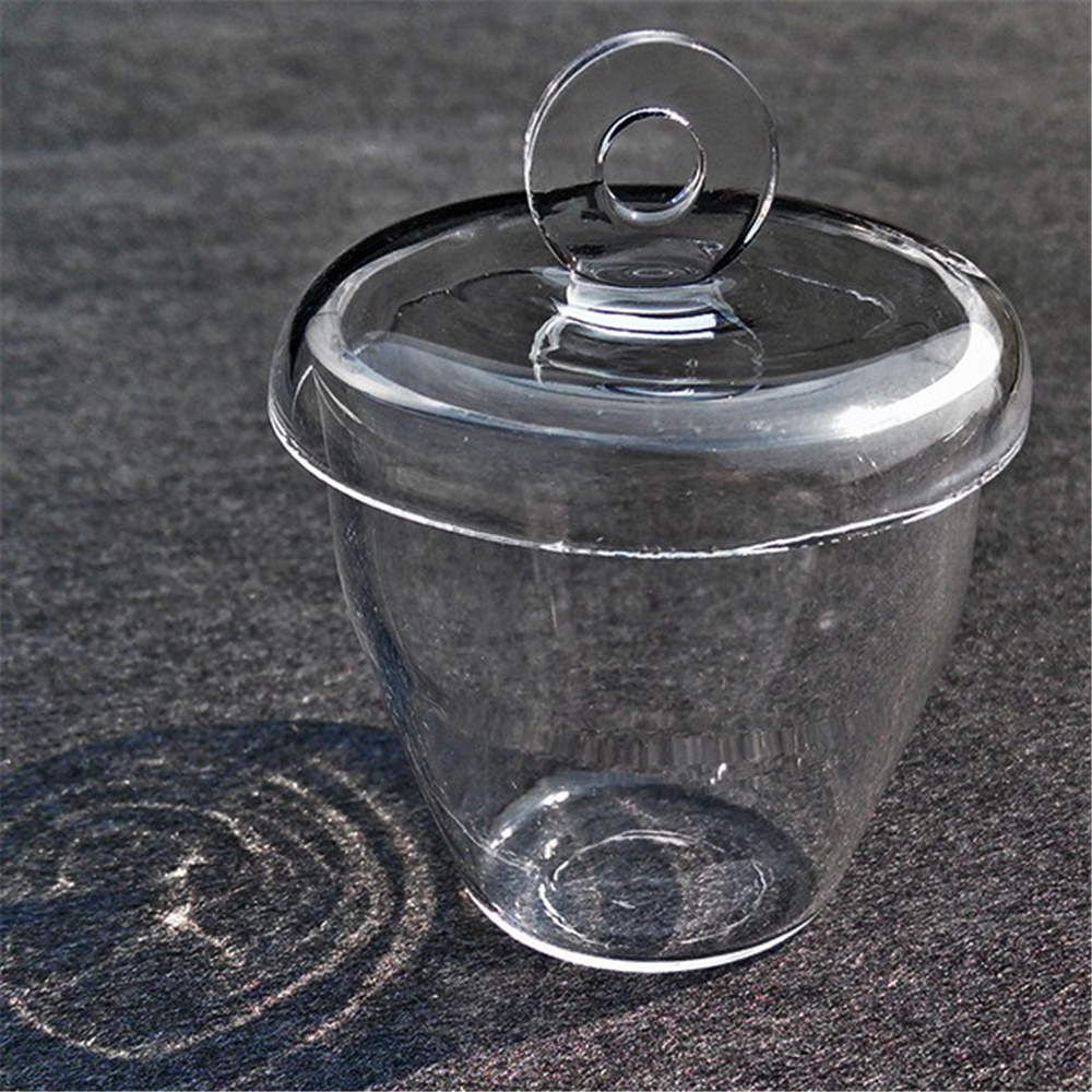 1pcs Lab Glass Quartz Crucible with Lid cover 5-300ML High Temperature Resistant dispenser lid monin syrups 1833 syrups pump lid syrups dispenser monin glass bottle pump lid with high quality