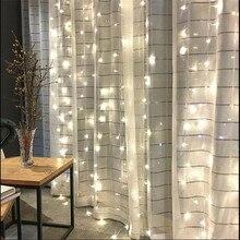 2 м x 2 м 180 светодиодный домашний наружный Праздничный Рождественский декоративный Свадебный Рождественский Сказочный занавес гирлянды вечерние гирлянды