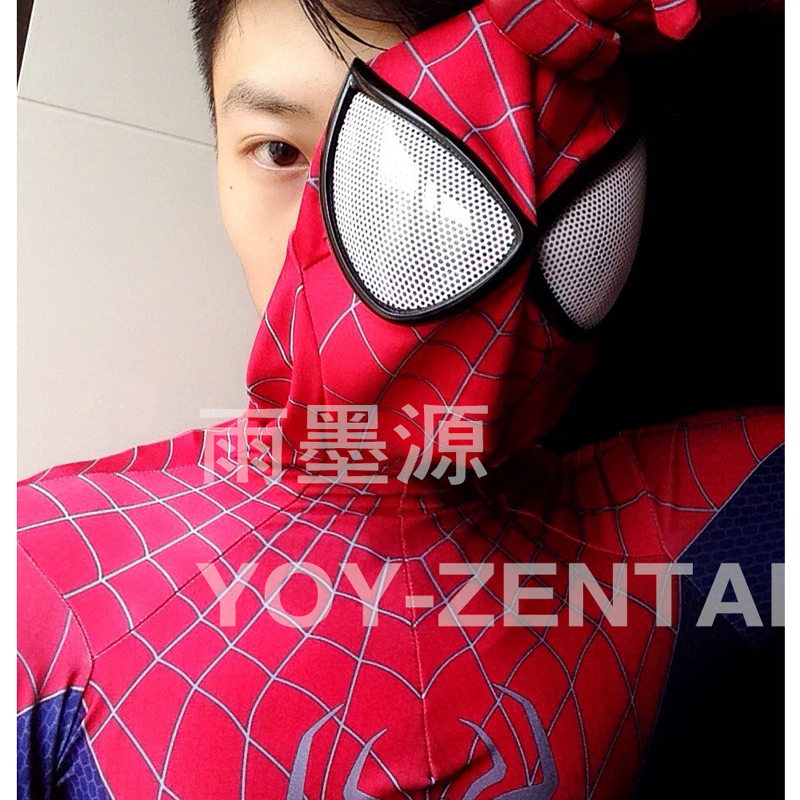 Movie Coser High Quality Custom Made 3D Print Amazing Spider Man Costume Spandex Lycra Fullbody Suit Adult Spiderman Costume