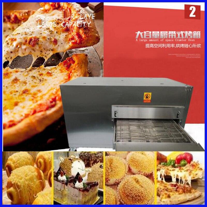 Máquina transportadora eléctrica de 32 pulgadas de acero inoxidable comercial para horno de pizza máquina para hacer pan