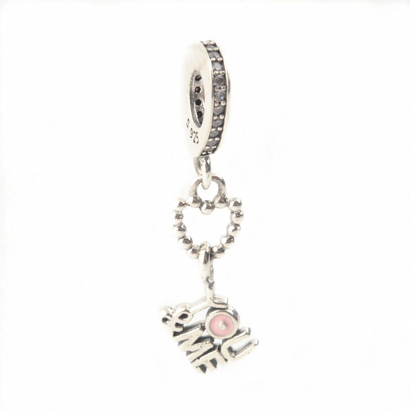 Authentic 925 Sterling Silver You & Me Warm Dangle Charm Beads Fit Original Pandora Charms Bracelet For Lover DIY Berloque