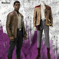 Finn Cosplay Star Wars The Last Jedi Costume Movie Superhero Jacket Carnival Clothes Halloween Outfit Pants Boots Adult Men Suit