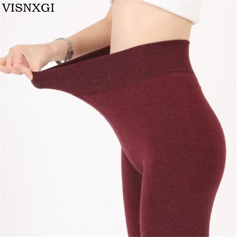 Frauen Winter Plus Kaschmir-leggings Mode Big Size Warme Super Elastische Faux Samt Winter Dick Schlank Leggings