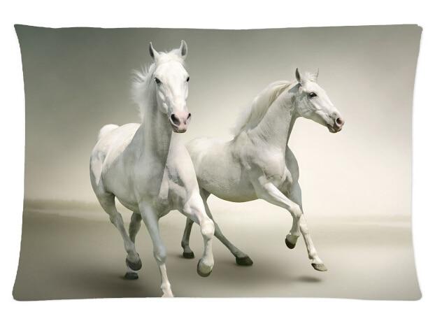 Most Popular Animal Black White Horse Pattern 27 Pillowcase Horses