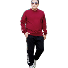 Big and Tall Brand Spring Two Piece Mens Tracksuit Men Long Sleeve Hoodies Top+Sweat Pant Set Causal Sportswear Plus Size