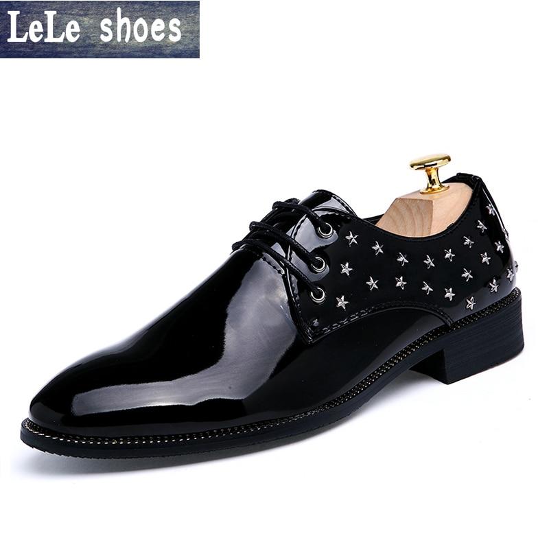 2016 New Brand Italian Designer font b Oxford b font Shoes Mens Dress Shoes Pointed Toe
