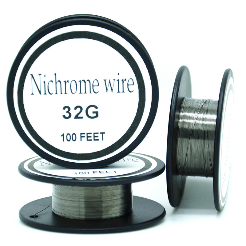 US $7 59 |Nichrome wire 32 Gauge 100 FT 0 2mm Cantal Resistance Resistor  AWG DIY atomizing core-in Ropes from Home Improvement on Aliexpress com |