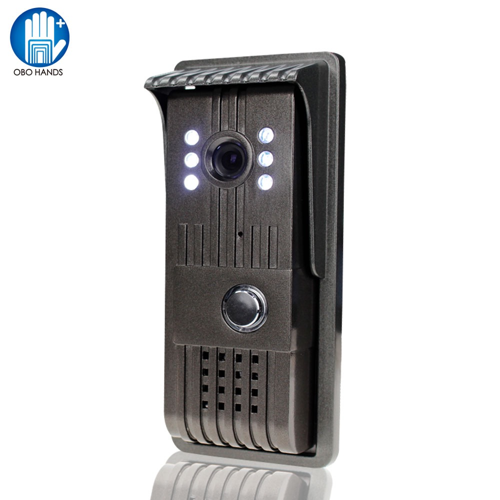 Hand Free Wired 700TVL Camera Intercom System <font><b>LED</b></font> Night Vision Video Intercom Door Phone with Waterproof Cover for Home Security