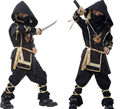 Children Super handsome Boy Kids black ninja warrior costumes Halloween party game performance clothing CO49164177