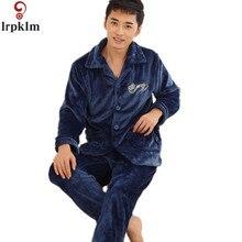 2017 Pijama Hombre зимняя утепленная мужская Пижамные комплекты пижамы мужской Flannel sleep set коралловый флис Lounge L-XXXL SY712