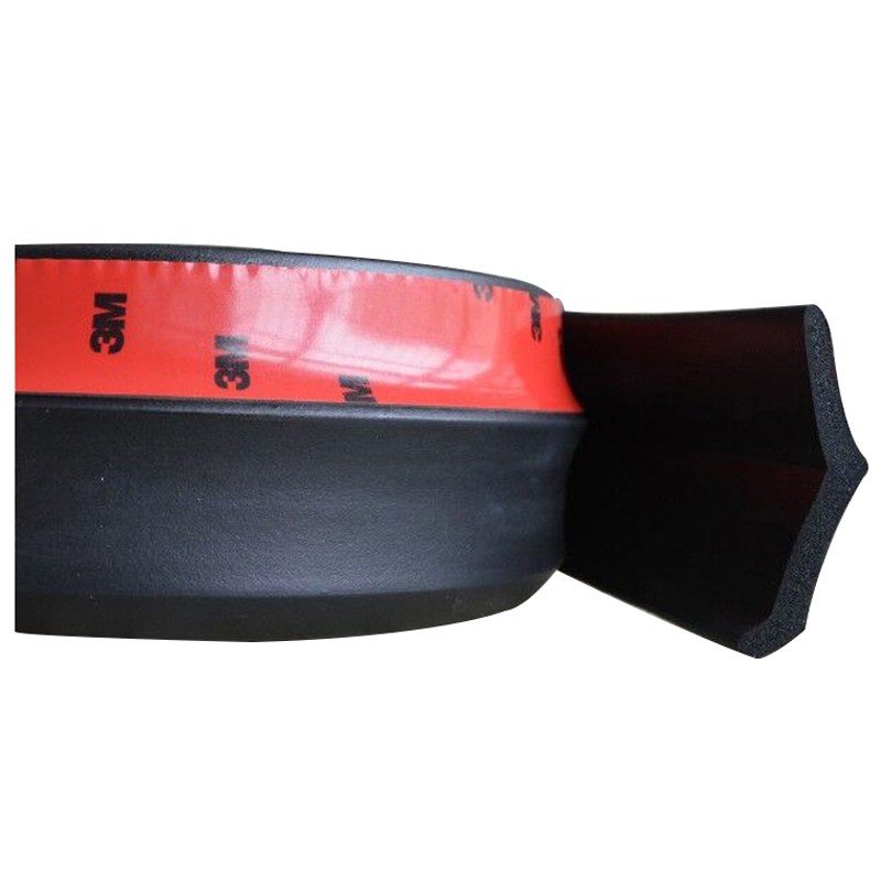 2.5M Car Lip Skirt Protector Front Bumper Spoiler Side Splitter Rubber Black
