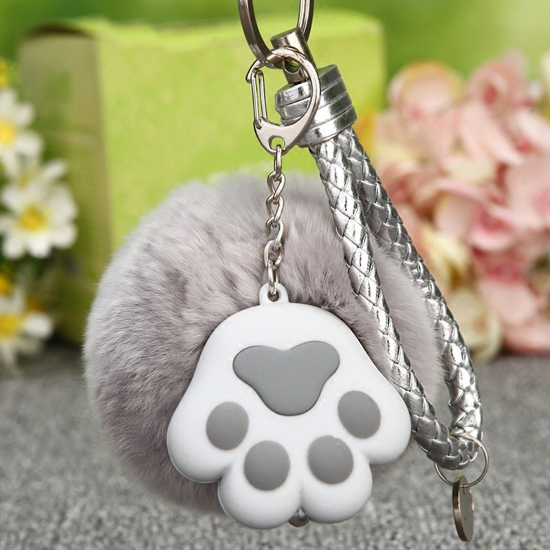 Hot Selling Creative Gift Luminous Dog Cat Claw Car Keychain Female Bag Pendant Key Ring Lap Cute Women Men Jewelry Holiday Gift
