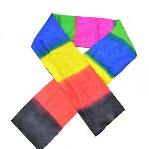 Image 2 - 変更色スカーフ手品ブラックレインボーシルクstreame手品magia小道具おかしいクローズアップステージマギーおもちゃ