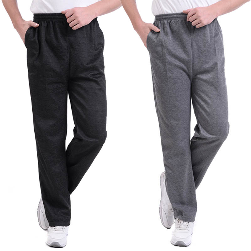 Summer Spring Joggers Men Casual Loose Sweatpants Men Basic Trousers Tracksuit Solid Bottoms Breathable Sportswear Jogger Pants