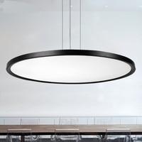 Современный офис освещения светодиодный подвесной светильник тонкий круговой столовая современный минималистский гостиной подвесной све
