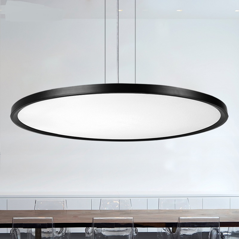 Lights & Lighting Modern Office Lighting Led Pendant Lamp Thin Circular Dining-room Modern Minimalist Living Room Pendant Light Office Zh Bg17 To Invigorate Health Effectively Ceiling Lights & Fans