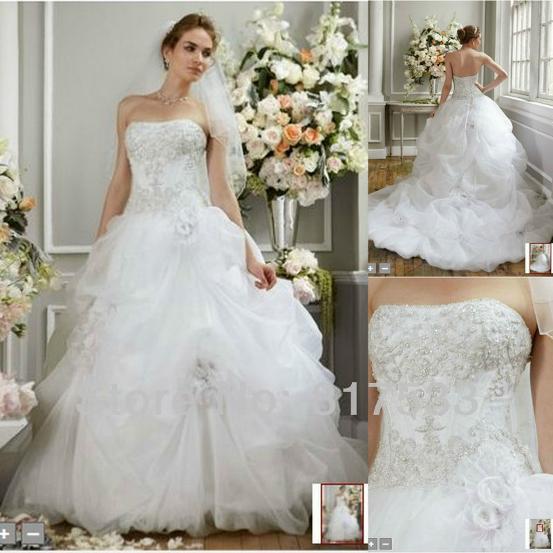 Masterpiece Tulle Long Train Wedding Dress Ruffles Corset White Fairy Dresses Strapless Appplique Lace Up Diamond In From Weddings