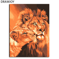 DIY Digital Canvas Oil Painting Unique Gifts Of Lions King The Frameless Painting By Numbers Picture