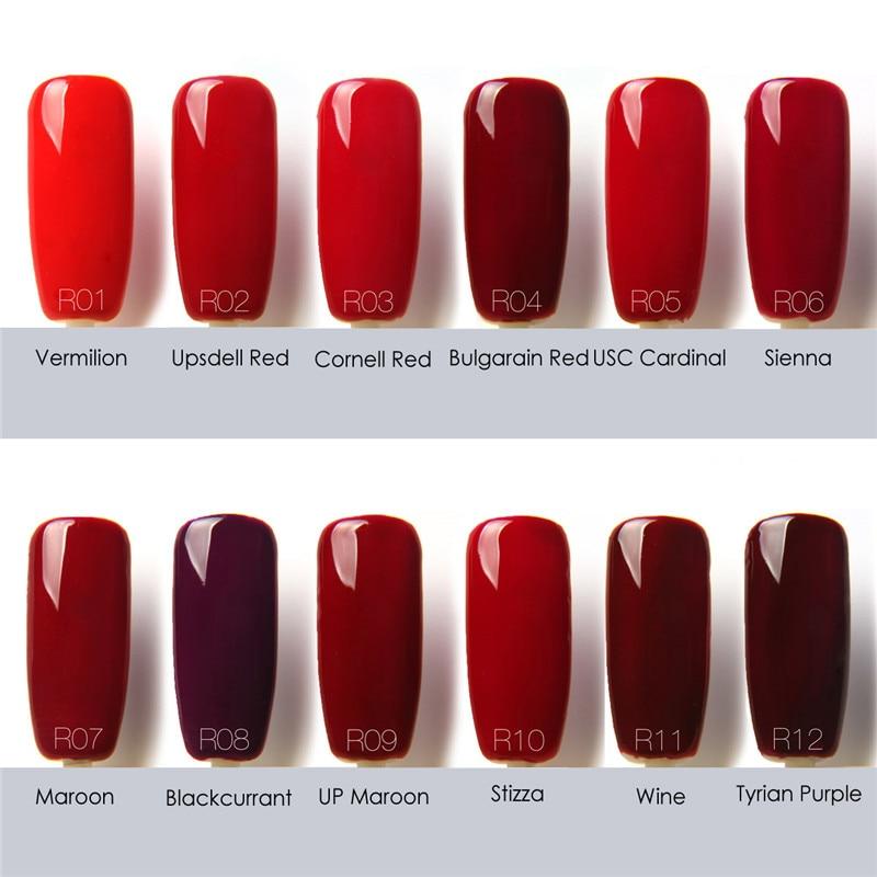 Aliexpress Color Tale 12ml Uv Gel Nail Polish Red Series Lamp Soak Off Lak Vernis Semi Permanent From Reliable