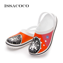 ISSACOCO Slippers Sandals Men Mens Shoes Holes Hole Terlik Breathable Beach Pantuflas Chinelo