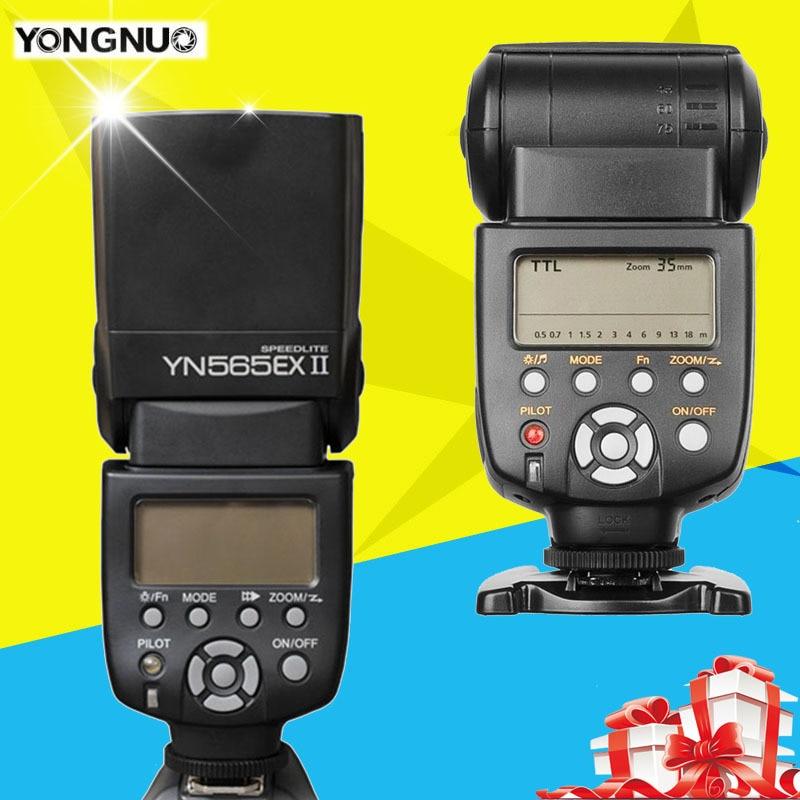 Yongnuo YN-565EX II  YN565EX TTL Flash Speedlite Slave for Nikon For Canon 6D 60D 5D Mark III 1100D 650D 600D 700D 70D 5D II yn e3 rt ttl radio trigger speedlite transmitter as st e3 rt for canon 600ex rt new arrival