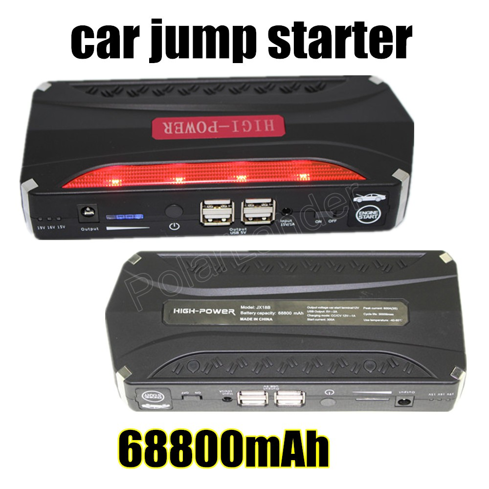 2016 New Car jump starter high quality super power 68800 mAh car power bank free shipping