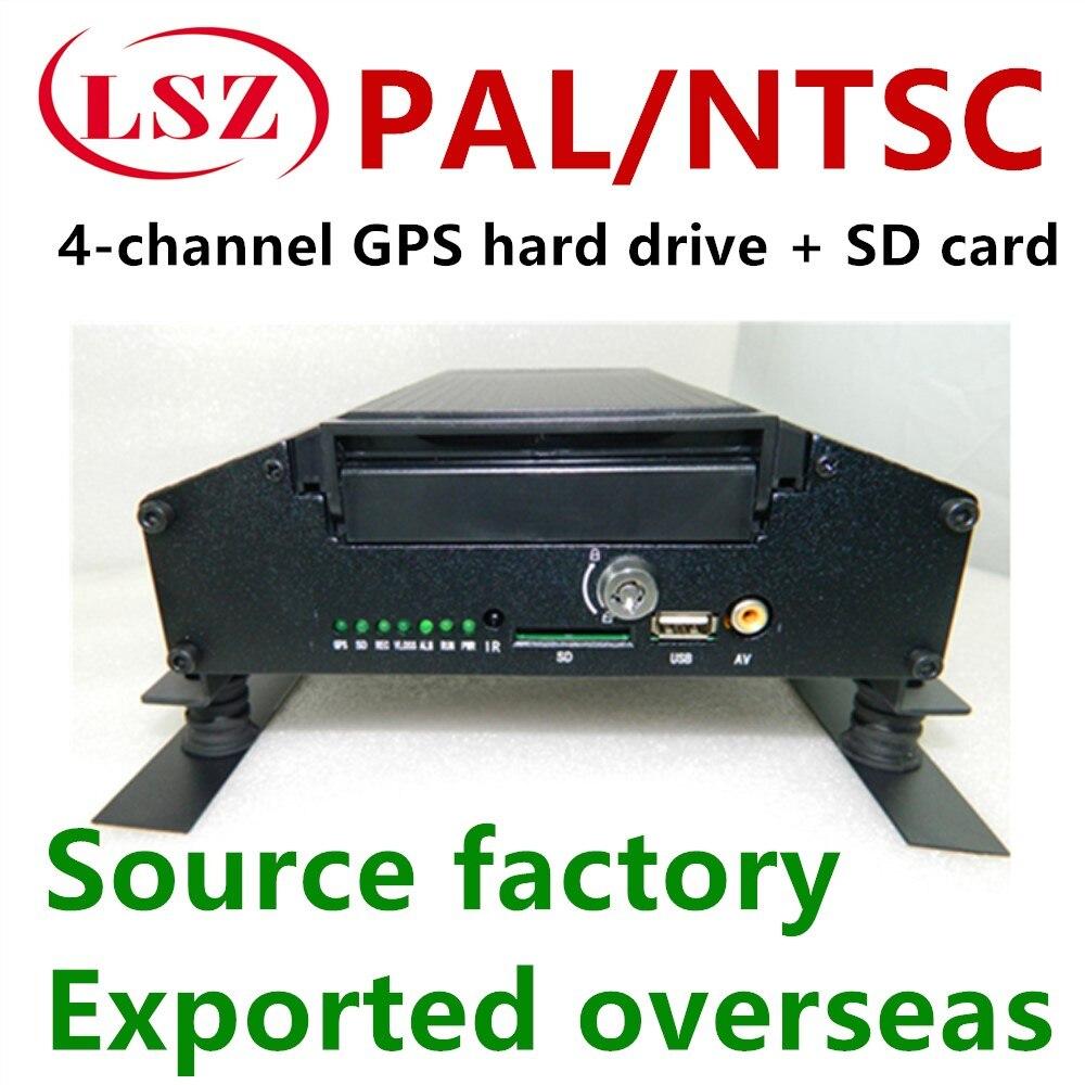 Здесь можно купить  Sales and wholesale 4-channel car hard disk recorder MDVR H.264 compression format GPS positioning factory direct sales  Безопасность и защита