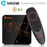 VONTAR V1 Google Android TV OS Doos met Voice Control Amlogic S905W 2 GB 16 GB Streaming Box Ondersteuning Google Play Winkel Netflix