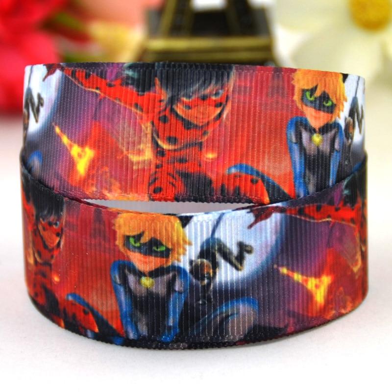 7/8 »(22 мм) lady Bug с героями мультфильмов Grosgrain ленты вечерние украшения, атласные ленты x-01425 OEM 10 метров