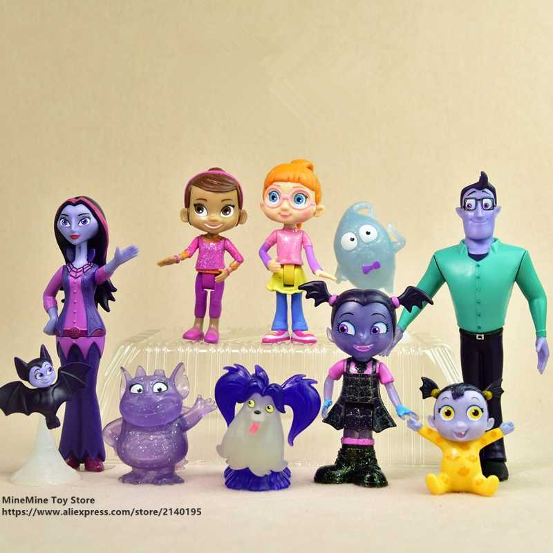 ZXZ Vampirina 5-14cm Action Figure Anime Mini doll Decoration PVC Collection Figurine Toys model for children gift