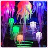Новые привлекательные оксфорды надувной шар Медузы с яркими rgb светодиодные фонари надувные Медуза Для свадебное оформление сцены