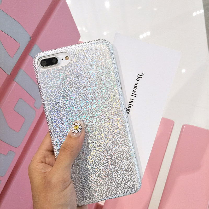 Hehan Ladies Laser Color Sequin For iphone7plus Mobile Shell For iphone6 Half Pack Soft Shell Cover ...