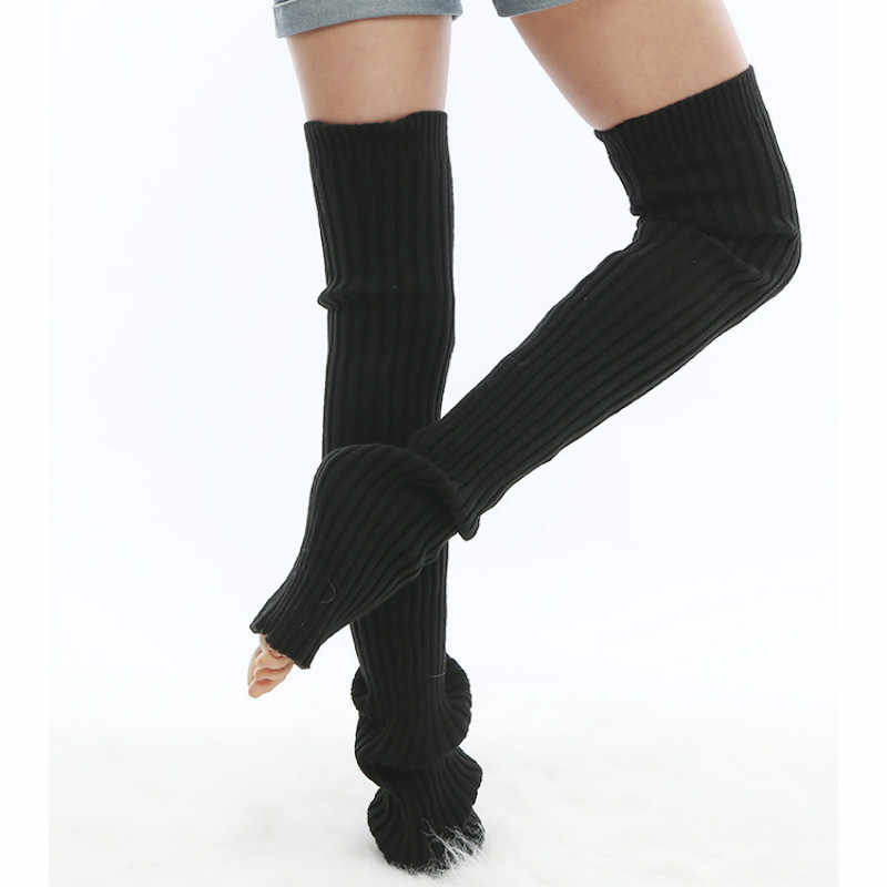 5bf1ced0854 ... 2018 Winter Women Casual Long Leg Warmer Thigh High Sock Ladies Girls  Extra Long Boot Over ...