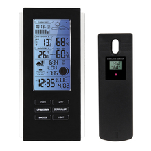 Discount! Blue LED Backlight Wireless Weather Station&Sensor Temperature Humidity Barometer RCC with Indoor Outdoor Thermometer Hygrometer