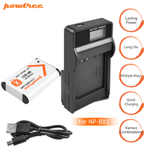 1Packs NP-BX1 NP BX1 NPBX1 Li-ion Battery+1Port Battery charger with LED For Sony WX300 HDR-AS10  AS30V AS100V AS100VR RX100 L20