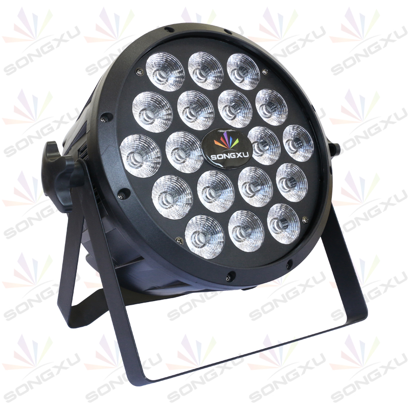 6PC RGBW 4in1 Par cans 18X10W DMX512 Led Flat DJ Light show Home party night club par light stage equipment/SX PL1810A-in Stage Lighting Effect from Lights & Lighting    2