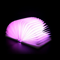 Creative Night Light Foldable Pages Book Shape Night Light Bedroom Children Kids Baby Sleeping Lamp Portable
