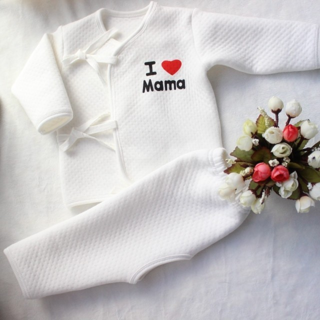 Baby Underwear Baby Clothes Set I Love Mama Papa Newborn Kids Underclothes Cotton Long Sleeve Baby Boy Girl Jumpsuits
