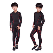 Winter Fashion Boy Thermal Underwear Set Quick-drying Breathable Fleece Long