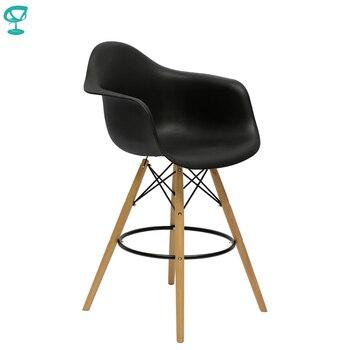 Hohe Stühle | 94981 Barneo N-153 Kunststoff Holz Hohe Küche Frühstück Bar Hocker Bar Stuhl Küche Möbel Schwarz Kostenloser Versand In Russland