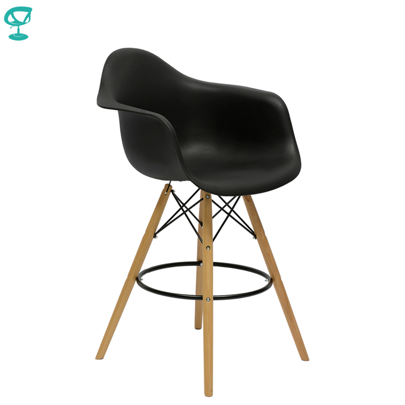94981 Barneo N-153 Plastic Wood High Kitchen Breakfast Bar Stool Bar Chair Kitchen Furniture Black Free Shipping In Russia