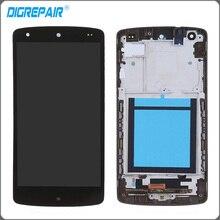 Для LG Google Nexus 5 D820 D821 ЖК-дисплей Дисплей Сенсорный экран планшета с рамкой рамка Полное собрание Замена Бесплатная доставка