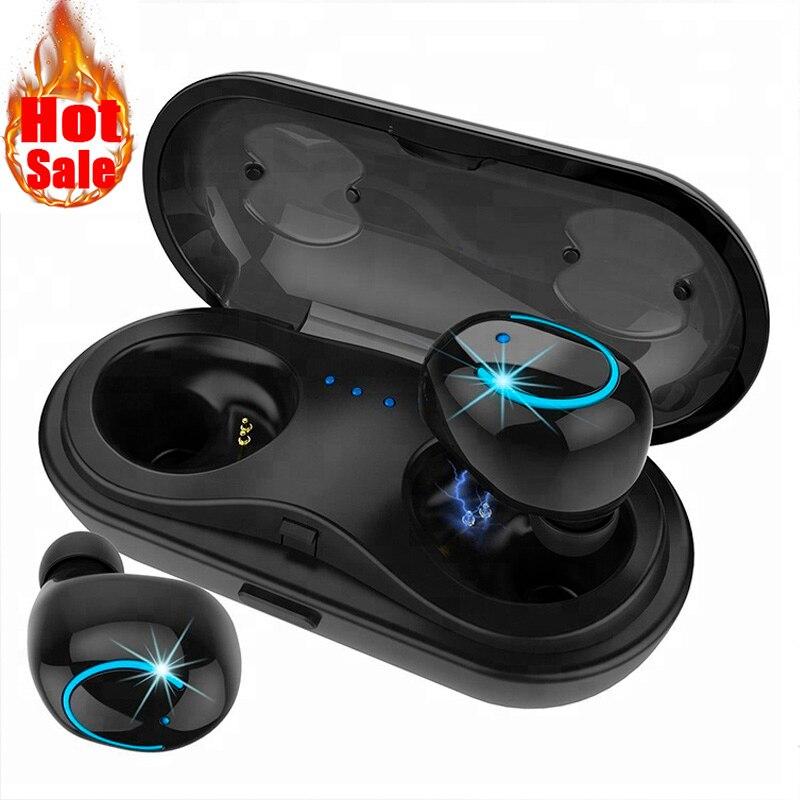 TWS Mini Wireless Bluetooth Kopfhörer IPX5 wasserdichte Kopfhörer remax sport stereo Drahtlose Ohrhörer Headset mit mic für telefon