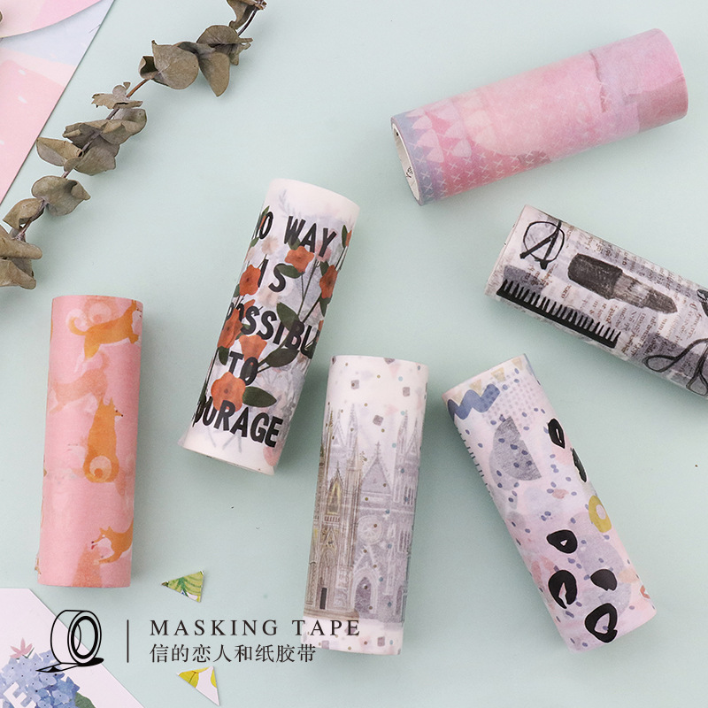 10cm*5m Shiba Inu dog Life Washi Tape Travel diary Adhesive Tape DIY Scrapbooking Sticker Label Masking Tape 10cm 5m korean natural style deco masking tape planet flowers design washi tape diy scrapbooking diary creative stationery
