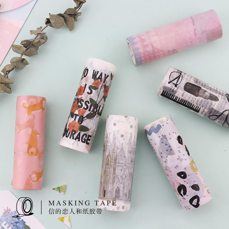 10cm*5m Shiba Inu Dog Life Washi Tape Travel Diary Adhesive Tape DIY Scrapbooking Sticker Label Masking Tape