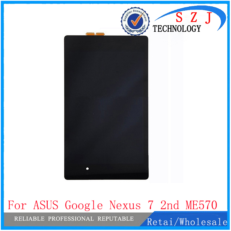 New 7 inch case For ASUS Google Nexus 7 2nd ME570 ME571 gen 2013 LCD Display Touch Screen Digitizer Black Assembly Free Shipping 7 inch for asus me173x me173 lcd display touch screen with digitizer assembly complete free shipping