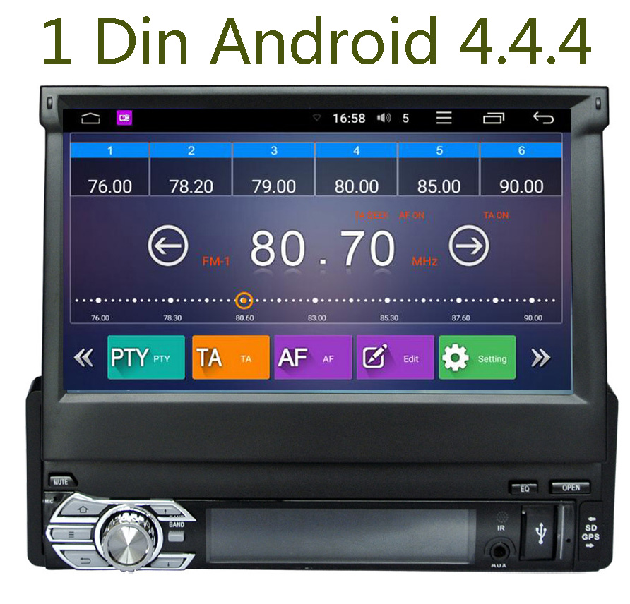 1 din new universal car radio car dvd player gps. Black Bedroom Furniture Sets. Home Design Ideas