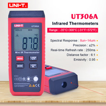 UNI T UT306A Mini Infrared Thermometer  35~300C  31~572F Digital IR temperature tester with Data hold & LCD backlight display